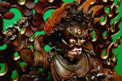 Скульптура буддийского божества Vajrapani стоковая фотография rf