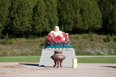 Скульптура Будды в въетнамском монастыре стоковое изображение rf
