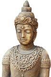 Скульптура Будды на белой предпосылке Стоковая Фотография