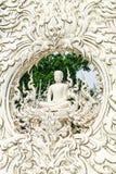 скульптура Будды на виске khun Wat Rong Стоковая Фотография RF