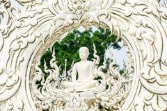 скульптура Будды на виске khun Wat Rong Стоковые Фото