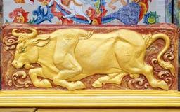 Скульптура быка богини Стоковые Изображения RF