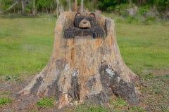 Скульптура высекаенная древесиной Стоковая Фотография RF