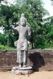 Скульптура в буддийском виске Стоковое Изображение