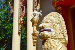 Скульптура в буддисте стоковое изображение rf