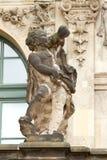 Скульптура в дворце Zwinger Стоковые Фото