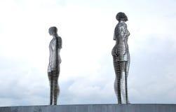Скульптура в влюбленности Стоковая Фотография RF