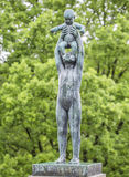 Скульптура в парке Осло Vigeland Норвегия Стоковые Изображения RF