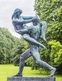 Скульптура в парке Осло Vigeland Норвегия Стоковые Фотографии RF