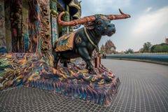 Скульптура в тайском виске Стоковое Изображение RF