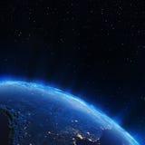 скульптура города америки освещает юг NASA карт Стоковое фото RF