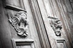 Скульптура деревянного ангела Стоковое Фото