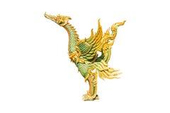 Скульптура животного изолята старая, птица Стоковое Фото