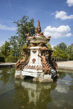 скульптура, золотые фонтаны в дворце Сеговии в Испании бронза f Стоковое фото RF