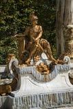 скульптура, золотые фонтаны в дворце Сеговии в Испании бронза f Стоковое Изображение RF
