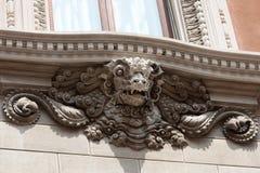 Скульптура изверга головная, Венеция Стоковые Изображения RF