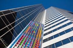 Скульптура искусства на стене небоскреба в Чикаго, США Стоковые Фото