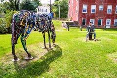 Скульптура искусства человека лошади Стоковое фото RF