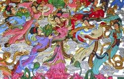 Скульптура китайских фольклорных диаграмм Стоковые Изображения RF