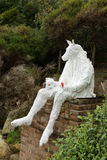 Скульптура морем - плач деревушек стоковое изображение rf