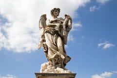 Скульптура моста Анджела Святого Стоковая Фотография RF