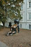 Скульптура младенца Стоковые Фотографии RF