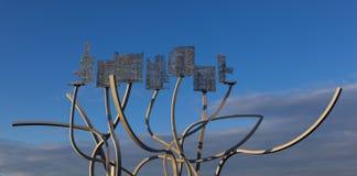 Скульптура на гавани Blyth Стоковые Изображения