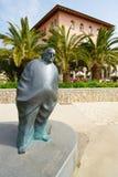 Скульптура на прогулке Lungomare прибрежной в Opatija стоковая фотография