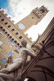 Скульптура на della Signoria аркады Стоковое фото RF
