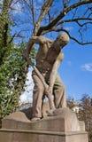 Скульптура лопаткоулавливател-человека (1906). Strasburg Стоковое Изображение