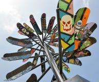 Скульптура палубы конька: Производить электричество стоковое изображение