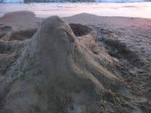 Скульптура песка и море Стоковые Изображения