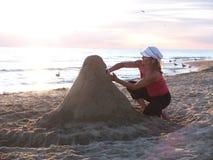 Скульптура песка и скульптор Стоковая Фотография