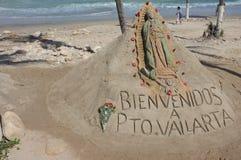 Скульптура песка на пляже Стоковая Фотография RF