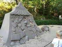 Скульптура песка стоковые изображения rf