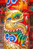 Скульптура дракона в китайском павильоне стоковые изображения rf