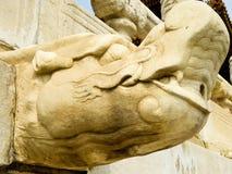 Скульптура дракона головная Стоковые Изображения