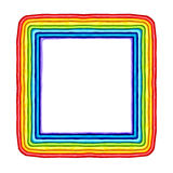 Скульптура рамки радуги пластилина красочная изолированная на белизне иллюстрация штока