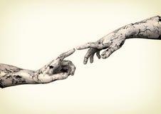 Скульптура 2 рук иллюстрация штока