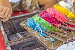 Скульптура сахара конфеты в форме розетки Вид тайского старого десерта Стоковое Фото