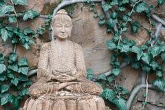 Скульптура сада Будды Стоковые Изображения