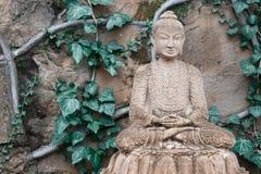 Скульптура сада Будды Стоковое Изображение RF
