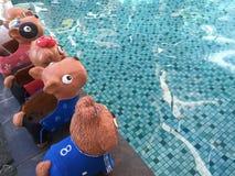 Скульптура собак Стоковое фото RF