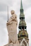 Скульптура собора Рональда и St Peter's в Риге Стоковая Фотография
