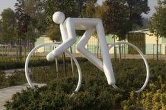 Скульптура спорта велосипеда Стоковые Изображения RF