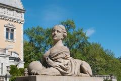 Скульптура сфинкса на дворце Massandra, Крыме Стоковое фото RF