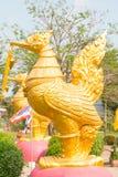 Скульптура тайская, Таиланд лебедя. Стоковое Фото