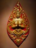 Скульптура тайского искусства буддийская Стоковые Изображения RF