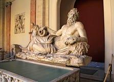Скульптура Тибра реки Стоковые Изображения RF