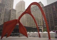 Скульптура фламинго Чикаго стоковые фото